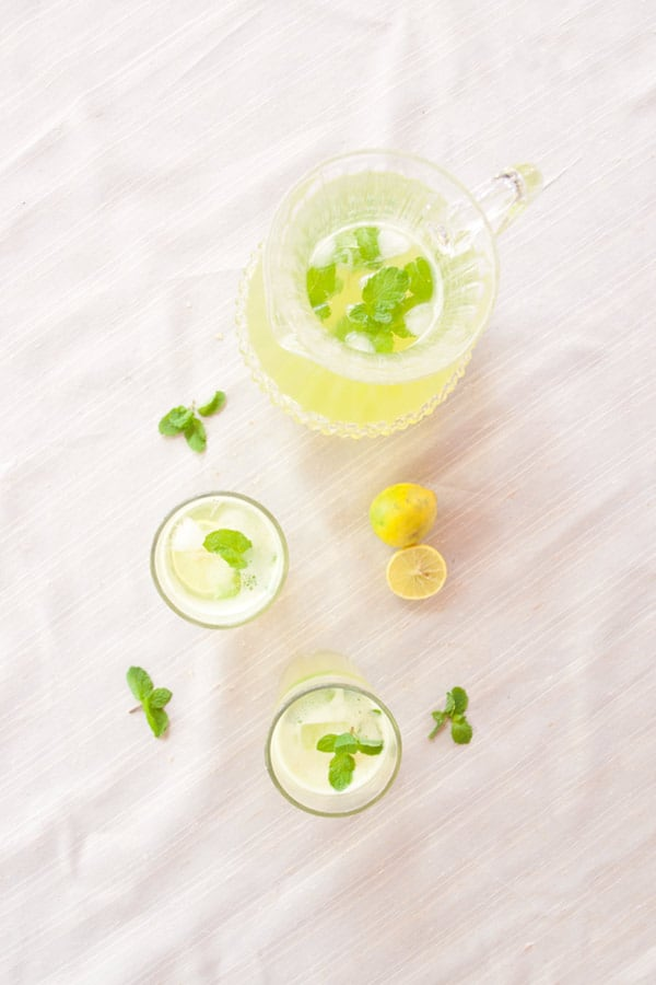 Limonana - Lemonade with Mint #stepbystep #recipe masalaherb.com