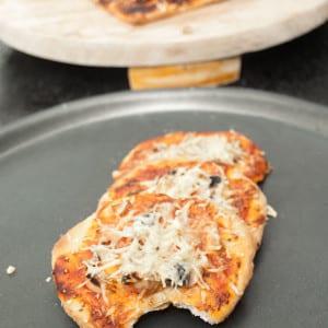 Mini Pizza Recipe with Mushrooms #stepbystep masalaherb.com