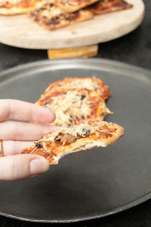Mini Pizza Recipe with Mushrooms #stepbystep masalaherb.com