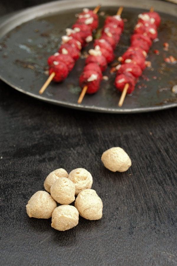 Vegetarian Tikka with Soya masalaherb.com #stepbystep #recipe @masalaherb