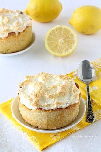 Mini Deep Dish Lemon Meringue Pies
