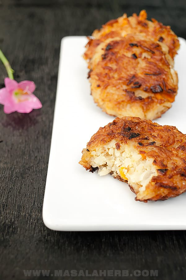 Rice Patties Recipe with Carrots