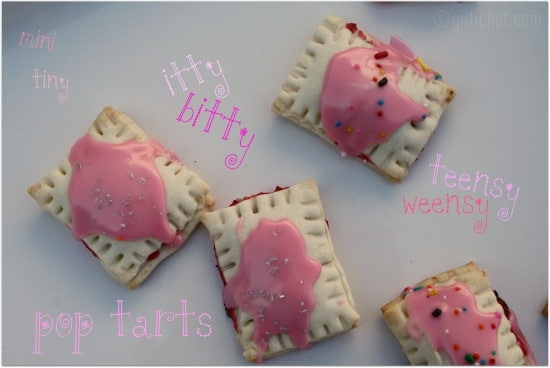 bite sized cherry strawberry pop tarts