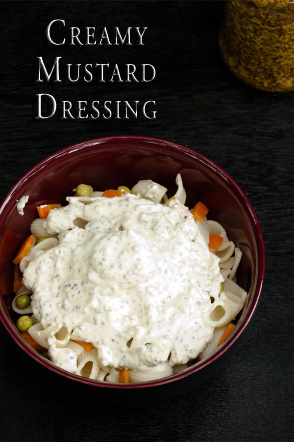 Creamy Mustard Dressing for Salads http://masalaherb.com #stepbystep #recipe @masalaherb