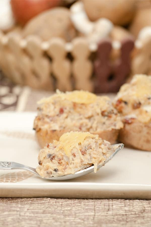 Stuffed baked Potatoes with Mushroom & Ham http://masalaherb.com #stepbystep #recipe @masalaherb