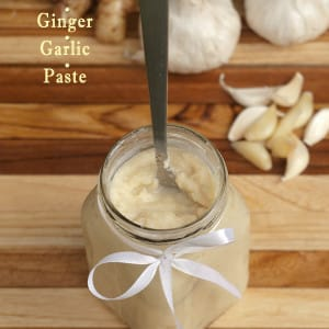 Homemade Ginger Garlic Paste www.masalaherb.com
