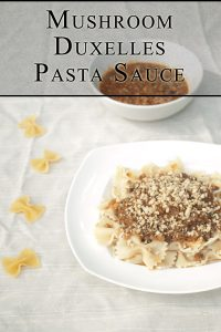 Mushroom Duxelles Pasta Sauce http://masalaherb.com #stepbystep #recipe @masalaherb