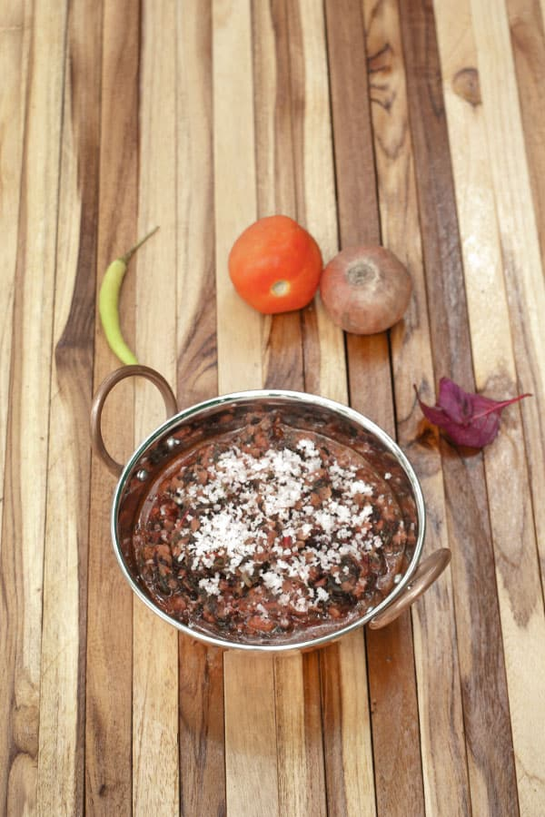 Red Amaranth Leaves Stir Fry - Tambdi Bhaji - Goan Red Spinach Sabzi Recipe https://www.masalaherb.com