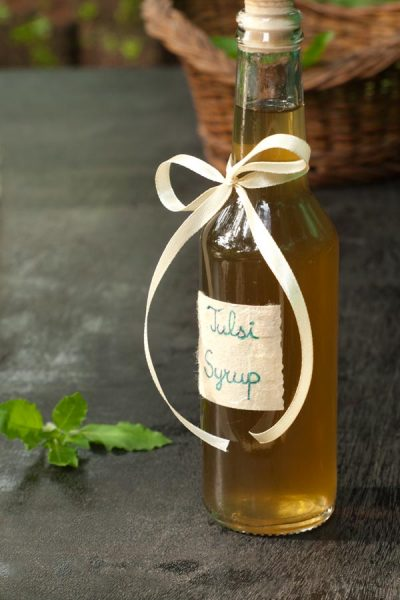 Tulsi Syrup Recipe - Indian Holy Basil http://masalaherb.com #stepbystep #recipe @masalaherb