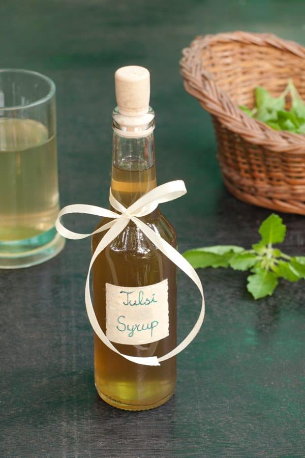 Tulsi Syrup Recipe - Indian Holy Basil http://masalaherb.com #stepbystep #recipe @masalaherb