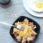 Savory Fruit Salad with Cantaloup, Plum, Orange and Vinaigrette
