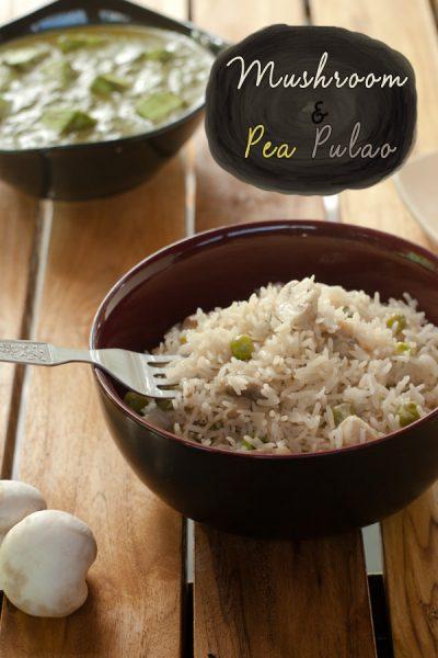 Mushroom and Pea Pulao