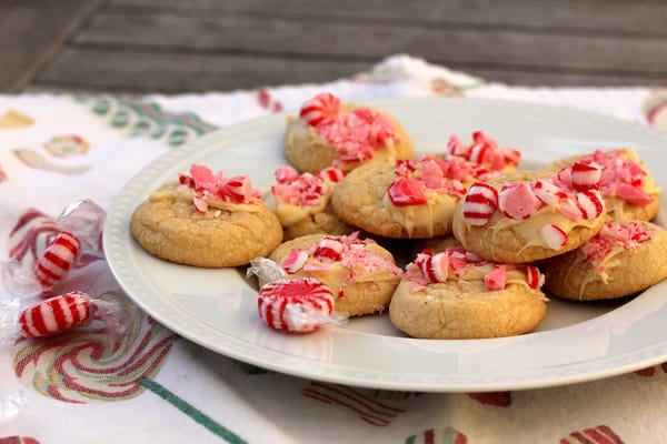 Peppermint White Chocolate shortbread cookies