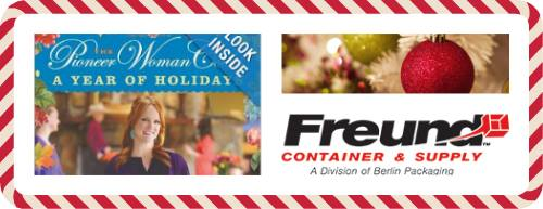 Win $250 Freund gift certificate, as well as one copy of  The Pioneer Woman Cooks:  A Year of Holidays