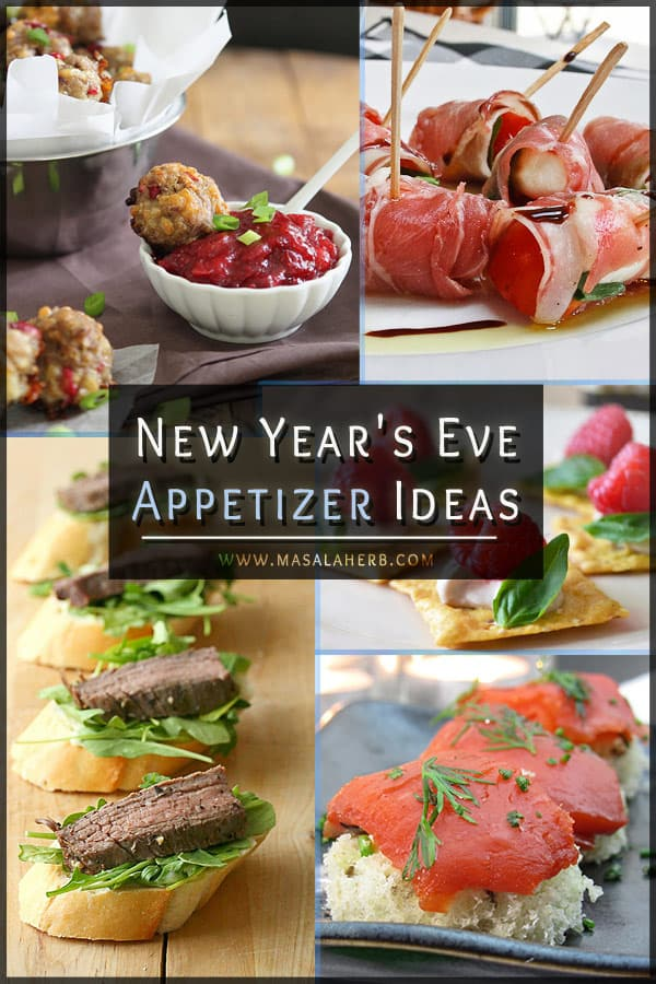 New Year's Eve Appetizers – Amuse Bouche & Bite Sized Hors d'Oeuvres Recipes www.masalaherb.com