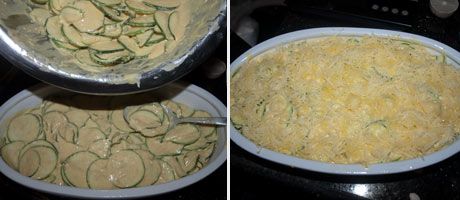 Spicy Creamy Courgette Gratin with Cheese www.masalaherb.com