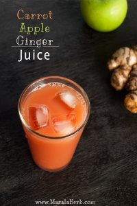 Carrot Apple Ginger Juice www.masalherb.com