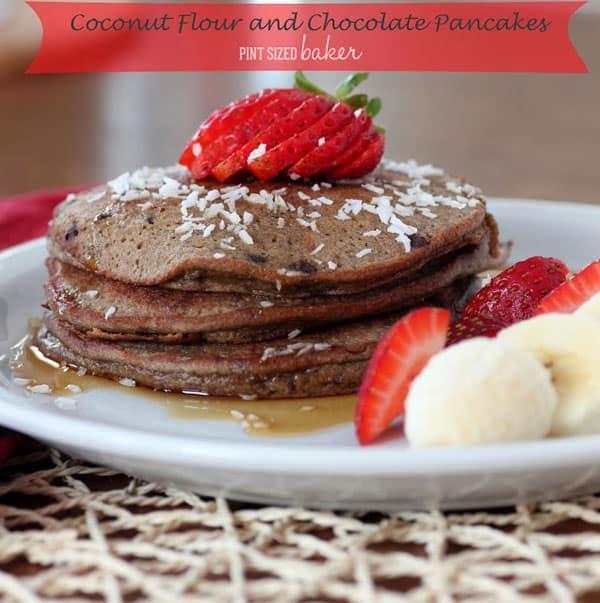 Coconut Flour Chocolate Pancakes