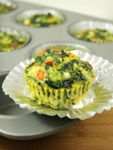 Individual Veggie Quiche Cups To-Go