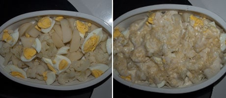 Cauliflower Potato Egg Bake www.masalaherb.com