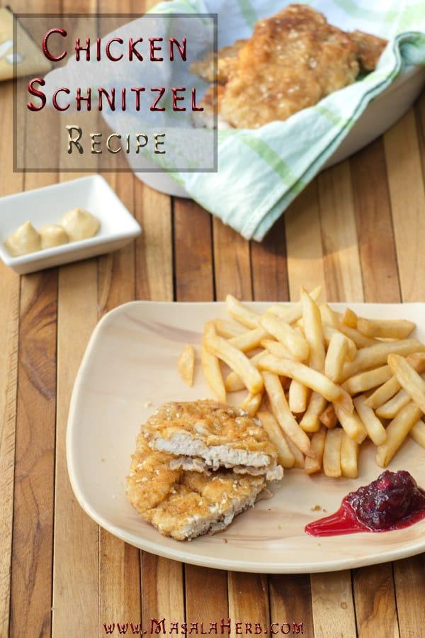 Chicken Schnitzel Recipe www.masalaherb.com