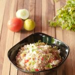 Couscous Paneer Salad with Lemon Dressing
