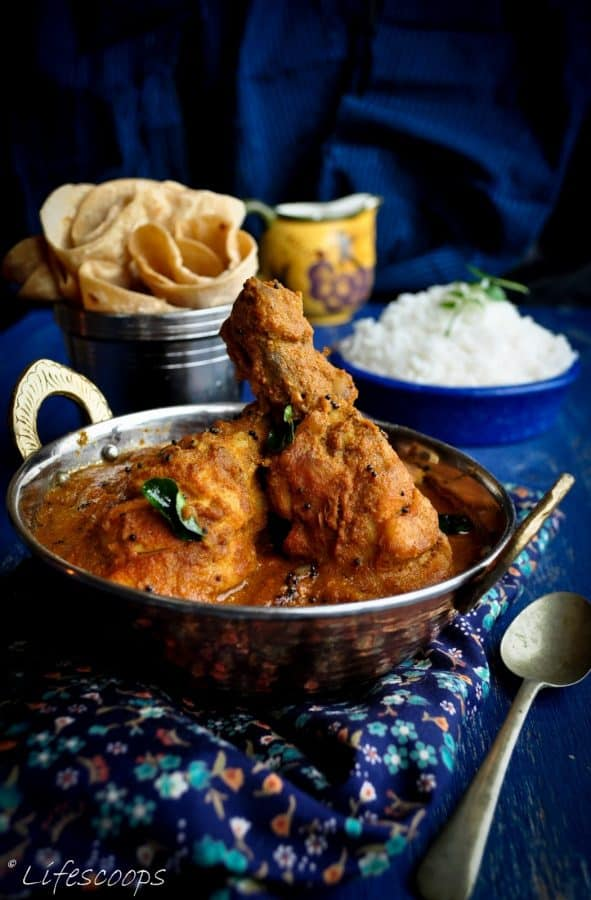 Nadan Kozhi Curry - Kerala Style Chicken Curry with Coconut by Life Scoops