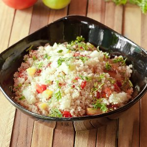 fresh couscous salad with Moroccan couscous