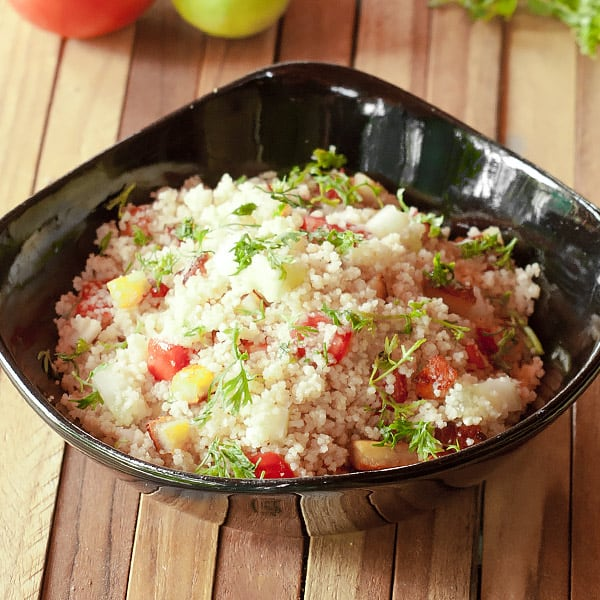 fresh couscous salad with Moroccan couscous