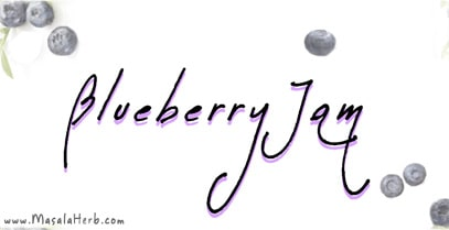 Blueberry Jam Label www.masalaherb.com