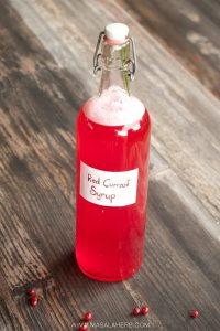 Redcurrant Syrup {Homemade Cordial Recipe} www.masalaherb.com
