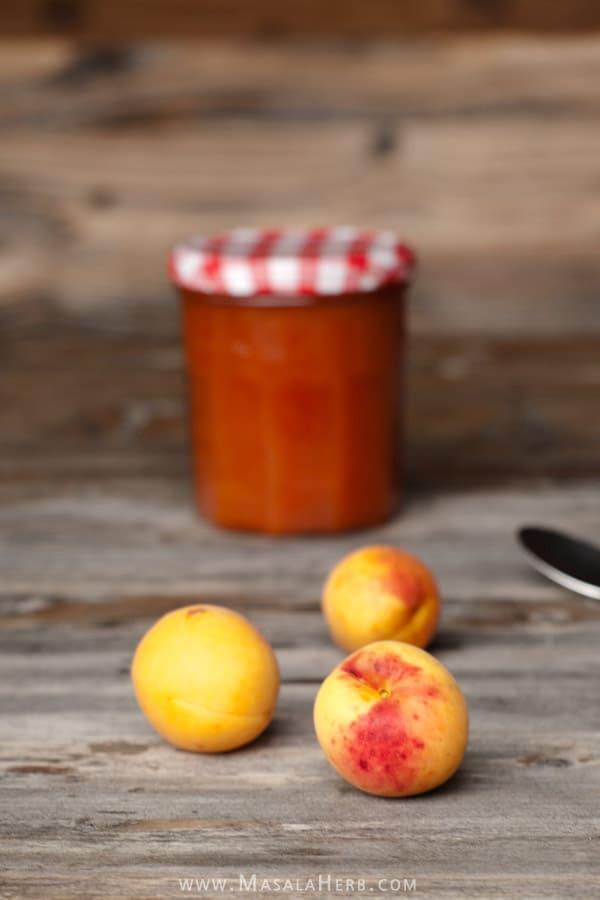 Apricot Jam Recipe {without Pectin} www.MasalaHerb.com #DIY