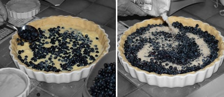 Blueberry Tart with Custard Recipe www.masalaherb.com french food diy fruit tart recipe