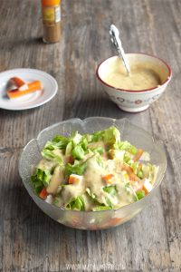 Surimi Salad with Curry Mayo Dressing - my favorite fresh Crab sticks salad recipe www.masalaherb.com