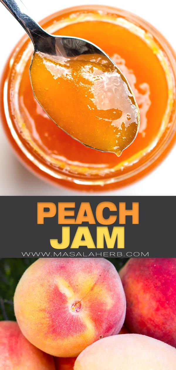 french peach jam