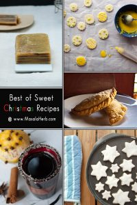 Best of Sweet Christmas Recipes from www.MasalaHerb.com