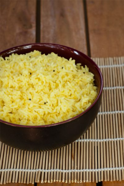 Lemon Rice Recipe - How to make Lemon Rice. great side dish and Goan Indian food www.MasalaHerb.com