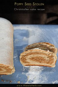 Poppy Seed Stollen {Eggless} – Christstollen Cake Recipe