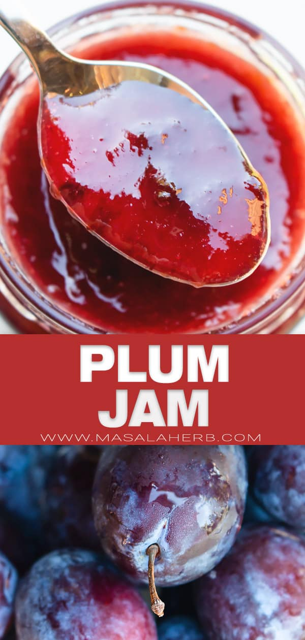 Plum Jam Recipe pin image