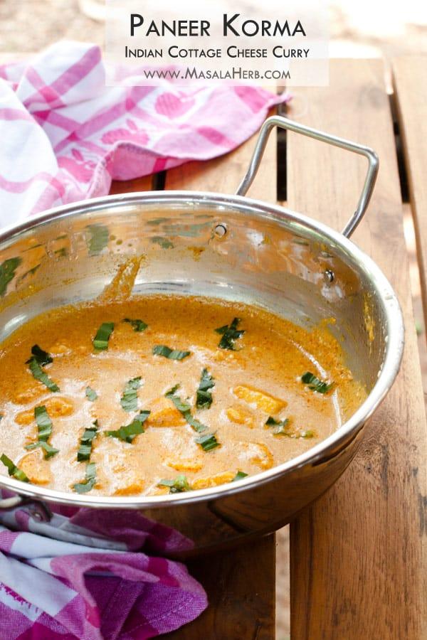 Easy and Quick Paneer Korma Recipe - Mughlai Shahi Paneer Korma Curry