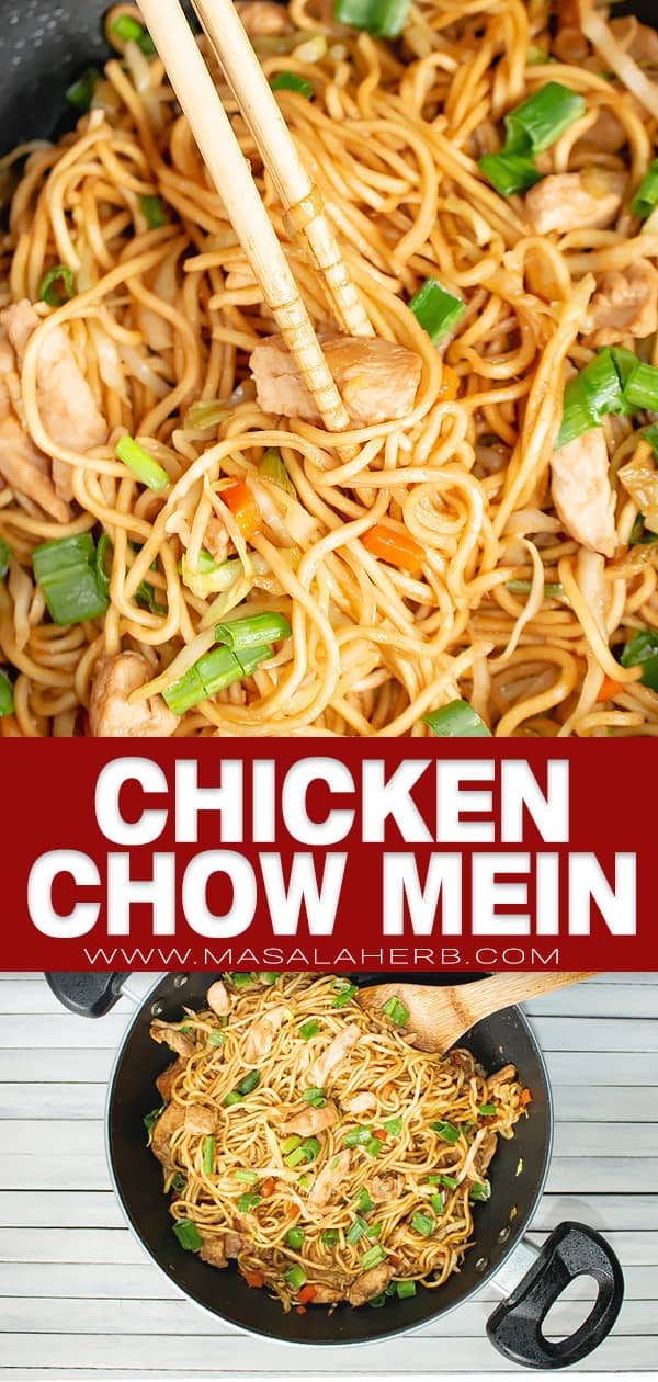 chicken chow mein pin photo