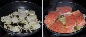 fresh salmon tagliatelle with white wine sauce masalaherb.com