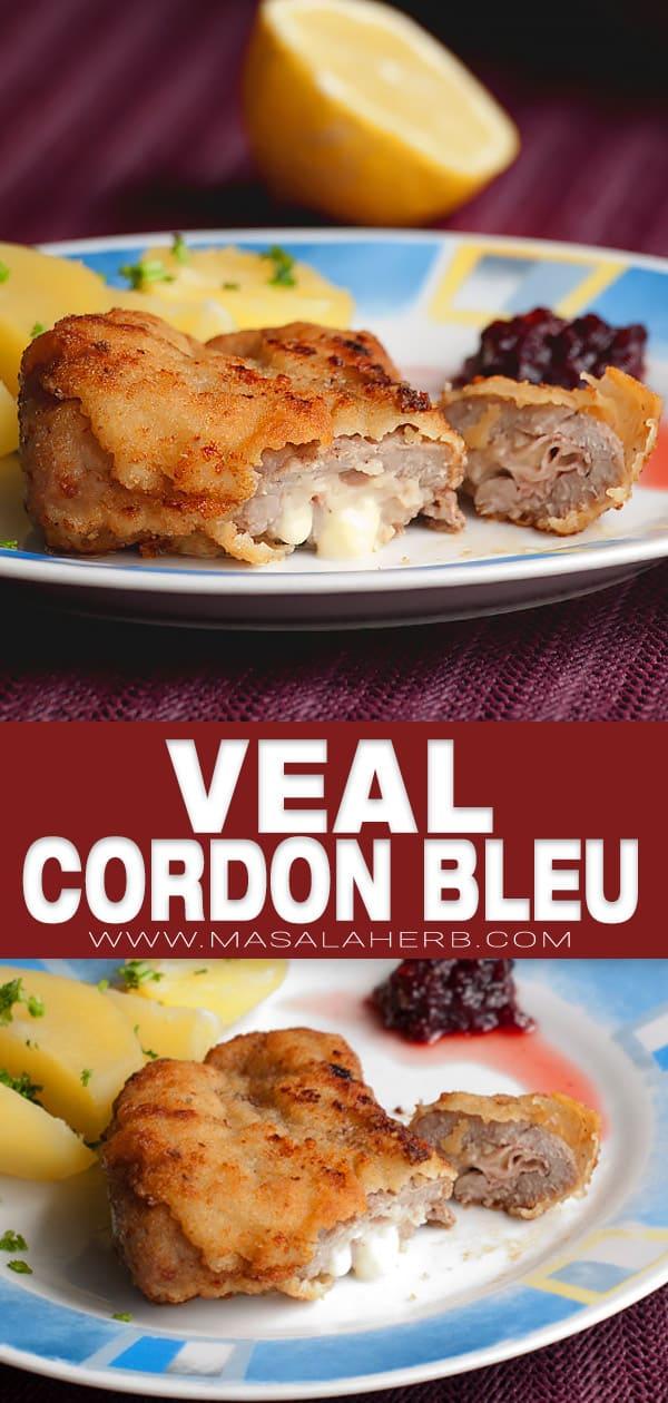 Veal Cordon Bleu pin