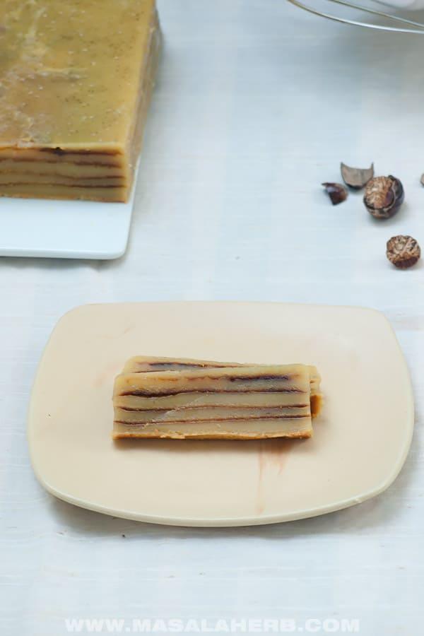 bebinca slices in a plate