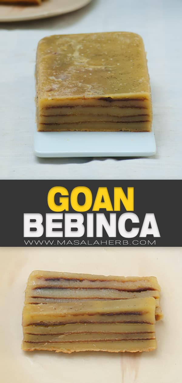 Bebinca - Layered Goan Cake Recipe pin image