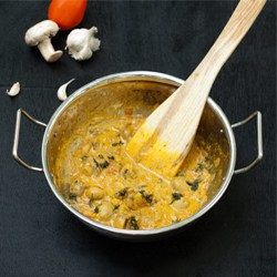 Mushroom Masala Recipe – One Pot Mushroom Curry Spiced Gravy [Nut Free, Gluten Free, Vegetarian]