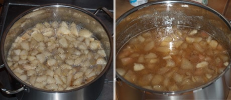 Easy Pear Preserves - Pear Jam Recipe with Vanilla & without Pectin www.masalaherb.com #Recipe #Jam #stepbystep