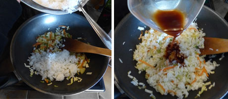Easy Pineapple Fried Rice - Indian Vegetarian Recipe www.MasalaHerb.com #Recipe #weeknightdinner #stepbystep