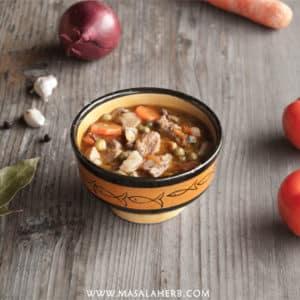 Winter Veal Stew - French Ragout Recipe www.MasalaHerb.com