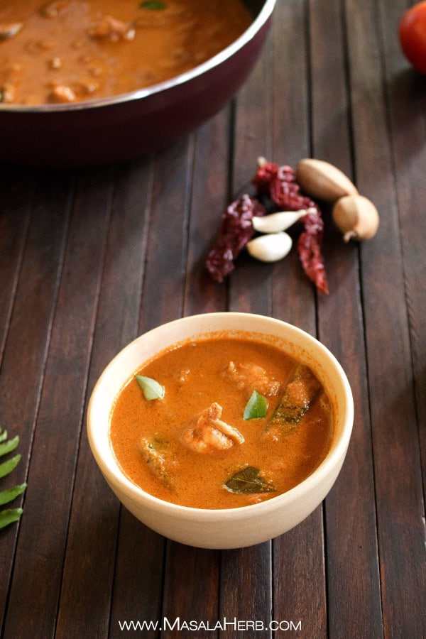 Goan Prawn Curry - How to make goan prawn curry recipe with video www.MasalaHerb.com #indianfood